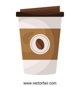 coffee plastic container flat style icon