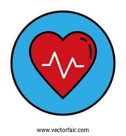 heart cardiology line and fill style icon