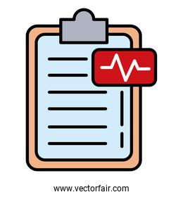 ekg pulse with checklist line and fill style