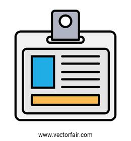 badge id document line and fill style icon