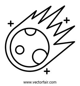 meteorite flying line style icon