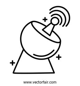 antena communication line style icon