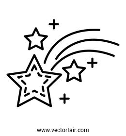 space stars line style icon