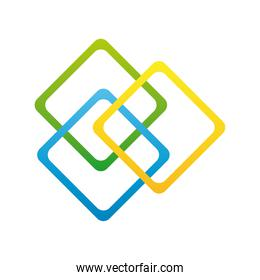 squares colors company logo colorful design icon