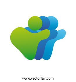 team company logo colorful design icon