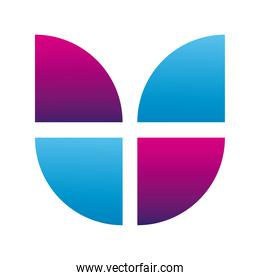 letter u figure company logo colorful design icon