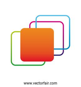 squares figures company logo colorful design icon