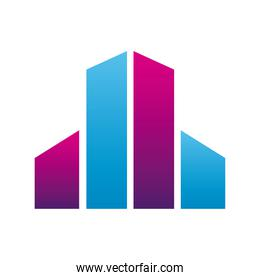 buildings company logo colorful design icon