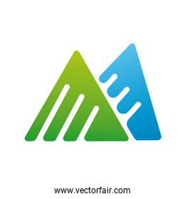 triangles company logo colorful design icon
