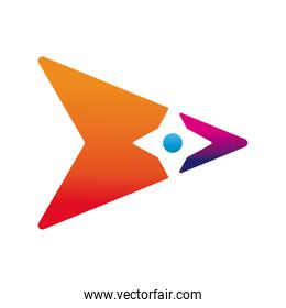 triangle figure company logo colorful design icon
