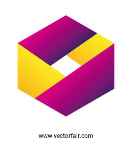 hexagon company logo colorful design icon