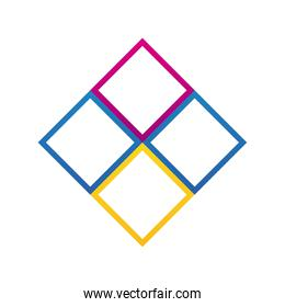 diamonds company logo colorful design icon