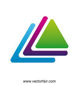 pile of triangles company logo colorful design icon