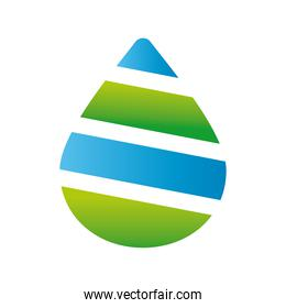 green and blue drop company logo colorful design icon