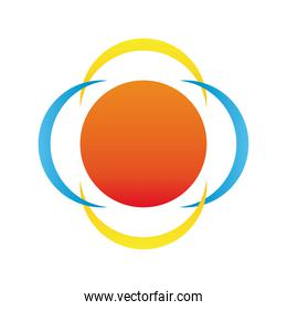 floral form company logo colorful design icon