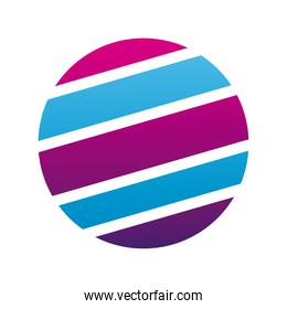 sphere with stripes purple and blue company logo colorful design icon