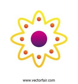 yellow flower company logo colorful design icon
