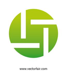 green circle company logo colorful design icon