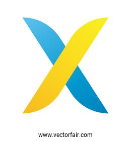 x letter company logo colorful design icon