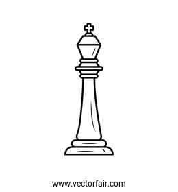 king chess piece line style icon