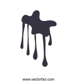drip ink monochrome flat style icon