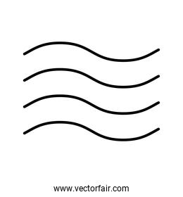 wind waves weather line style icon