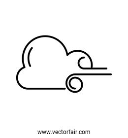 cloud with wind weather line style icon