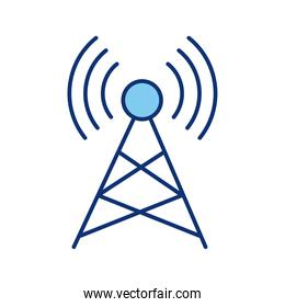 tower wireless signal line style icon