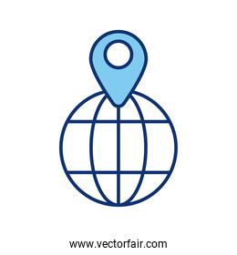 sphere browser with pin location style icon