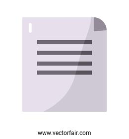 paper document file flat style