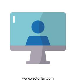 desktop computer device with user avatar