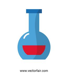 medical flask test laboratory flat style