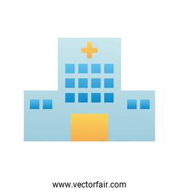 hospital building facade isolated icon