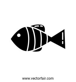 delicious fish healthy food silhouette style icon