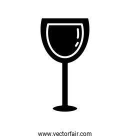 wine cup drink silhouette style icon