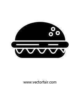hamburger fast food silhouette style icon