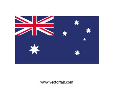 australia flag country isolated icon