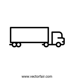 big truck delivery service line style icon