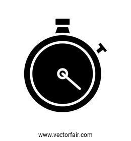 timer chronometer counter silhouette style