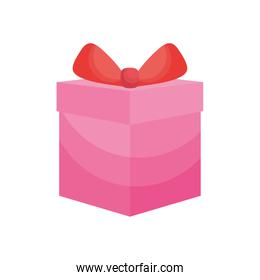 pink gift box icon, colorful design
