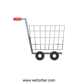 shopping cart icon, colorful design