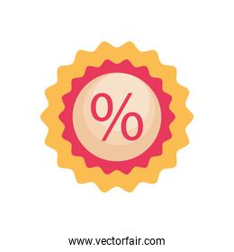 sale label icon, colorful design