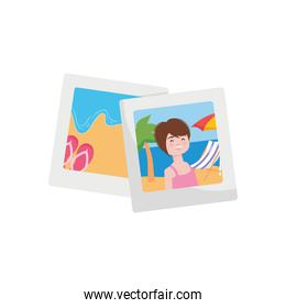 vacations photos icon, colorful design