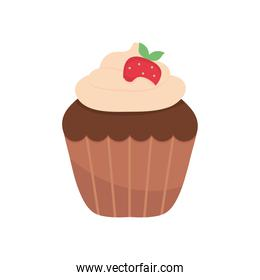 chocolate cupcake icon, colorful design