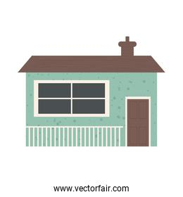 classic little house icon, colorful design