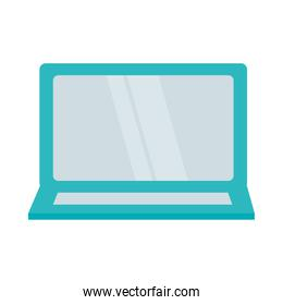 tablet device icon, colorful design