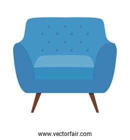 blue armchair icon, colorful design