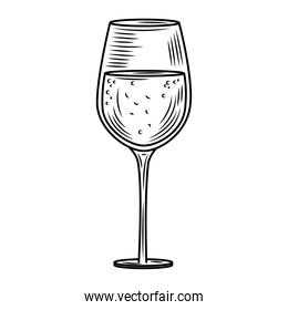 wine day, wine glass party celebration hand drawn design