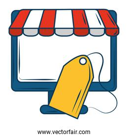 marketing computer online commerce tag price store