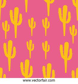 colorful cactus seamless pattern design
